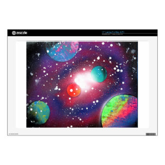 Spray Paint Art Space Galaxy Painting Laptop Decals