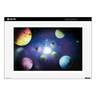 Spray Paint Art Space galaxy Painting Laptop Skin