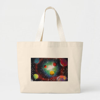 Spray Paint Art Space Galaxy Painting Large Tote Bag
