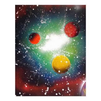 Spray Paint Art Space Galaxy Painting Letterhead