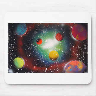 Spray Paint Art Space Galaxy Painting Mouse Pad