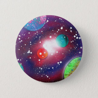 Spray Paint Art Space Galaxy Painting Pinback Button