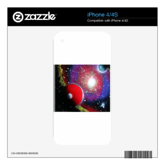 Spray Paint Art Space Galaxy Painting Skins For The iPhone 4S
