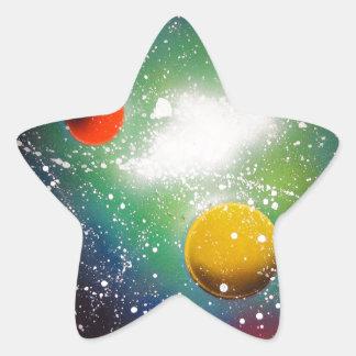Spray Paint Art Space Galaxy Painting Star Sticker
