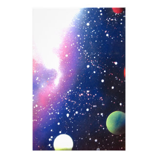Spray Paint Art Space Galaxy Painting Stationery