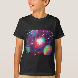 Spray Paint Art Space Galaxy Painting T-Shirt