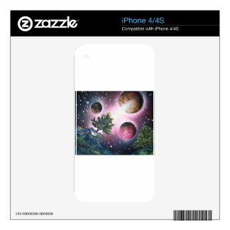 Spray Paint Art Space Landscape Painting iPhone 4S Decals