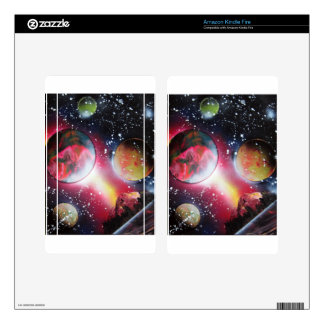 Spray Paint Art Space Landscape Painting Kindle Fire Decal