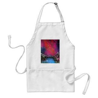 Spray Paint Art Starry Sky Landscape Painting Adult Apron