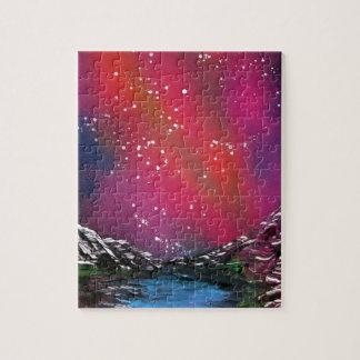 Spray Paint Art Starry Sky Landscape Painting Jigsaw Puzzle