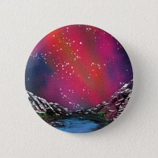 Spray Paint Art Starry Sky Landscape Painting Pinback Button