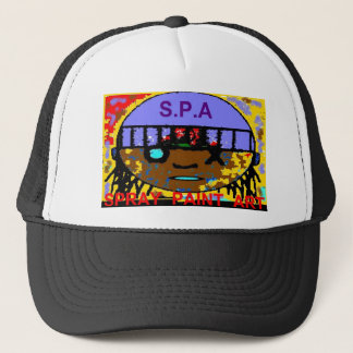SPRAY PAINT ART TRUCKER HAT