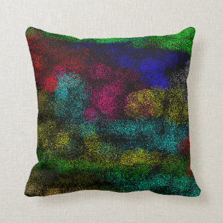 spray paint black throw pillow