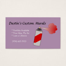 Spray paint business cards templates zazzle colourmoves