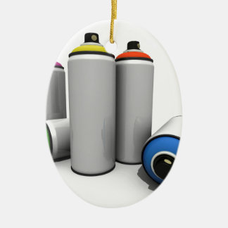 Spray Paint Cans Ceramic Ornament