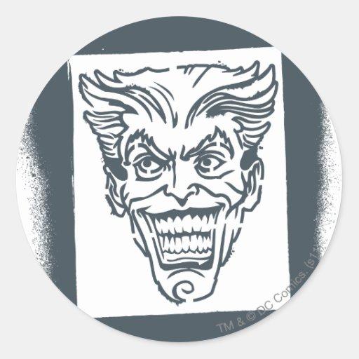 Spray Paint Joker Classic Round Sticker
