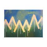 Spray Paint Mountain Range Canvas Print