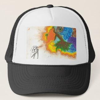 Spray Paint Oil Pastel Trucker Hat