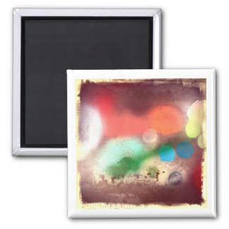 Spray Paint on Concrete Retro Filter 2 Inch Square Magnet