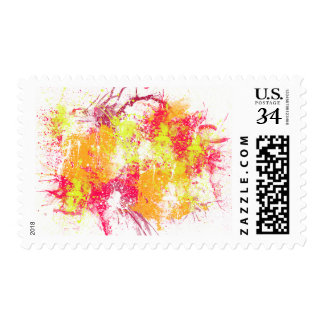 Spray Paint Orange & Red Abstract Art Stamp