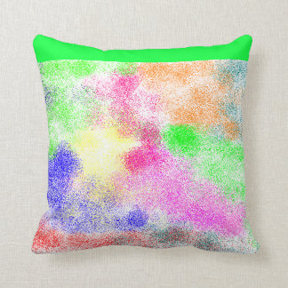 spray paint pillow