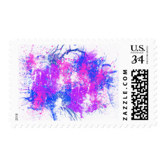 Spray Paint Pink & Purple Abstract Art Stamp