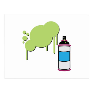 Spray Paint Postcard