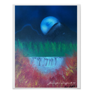 Spray paint scenery poster