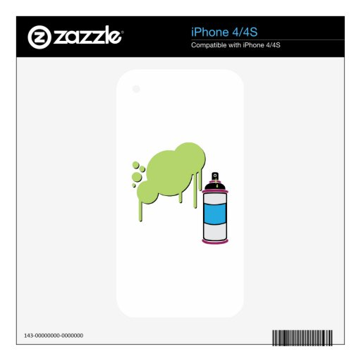 Spray Paint Skin For iPhone 4