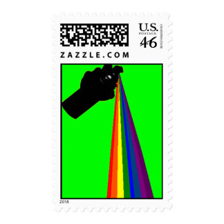 Spray Paint The Rainbow Postage Stamps