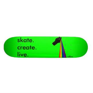 Spray Paint The Rainbow Skateboard