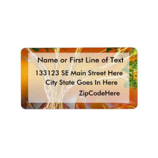 Spray Paint Tree against Red Orange & Back v1 Custom Address Labels