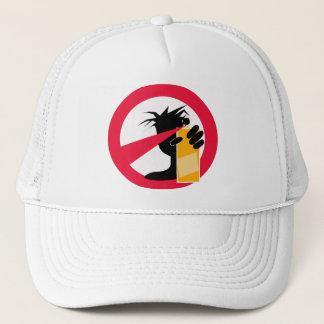 spray paint trucker hat