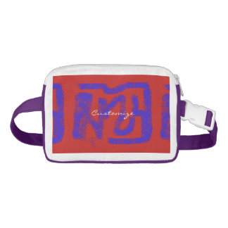 spray painted abstract Thunder_Cove blue/red Fanny Pack
