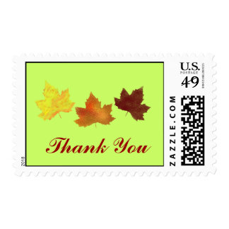 Spray painted fall leaves for Thanksgiving Stamp