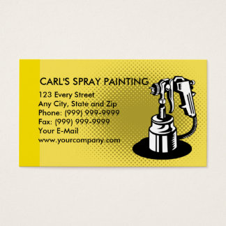 spray painting gun business card