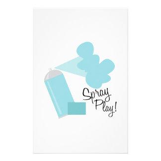 Spray Play! Personalized Stationery