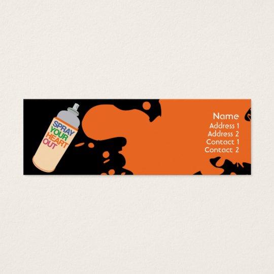 Spray - Skinny Mini Business Card