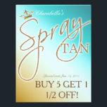"Spray Tan Gold Glitter Crown flyer<br><div class=""desc"">by SpaCards at Zazzle.  Spray Tan Gold Glitter Crown flyer.</div>"