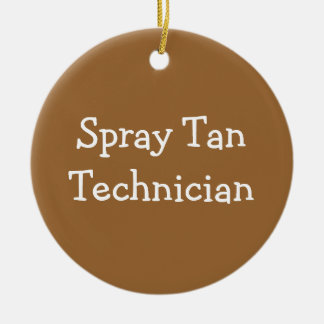 Spray Tan Technician Double-Sided Ceramic Round Christmas Ornament