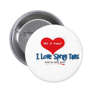 Spray Tanning Gift or Promotional Products 2 Inch Round Button