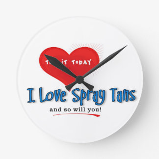 Spray Tanning Gift or Promotional Products Round Wallclocks