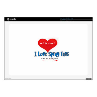 Spray Tanning Gift or Promotional Products Decals For Laptops