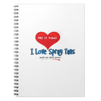 Spray Tanning Gift or Promotional Products Journal