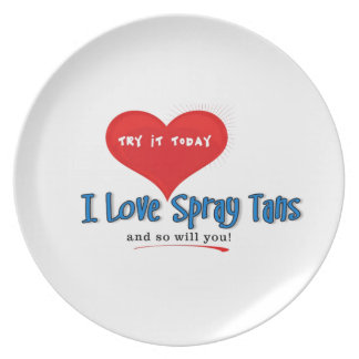Spray Tanning Gift or Promotional Products Party Plate