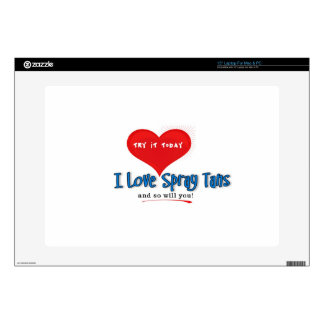 Spray Tanning Gift or Promotional Products Laptop Decals