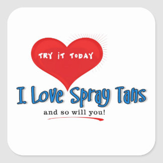 Spray Tanning Gift or Promotional Products Square Stickers