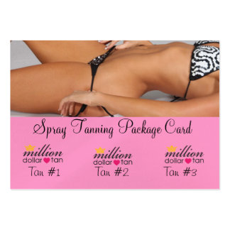 Spray Tanning Package Card 3 Tans Business Card