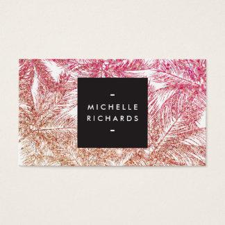 Spray Tanning Salon Glitter Palms II Business Card