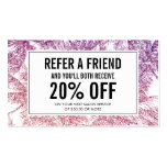 Spray Tanning Salon Glitter Palms Referral Card Double-Sided Standard Business Cards (Pack Of 100)